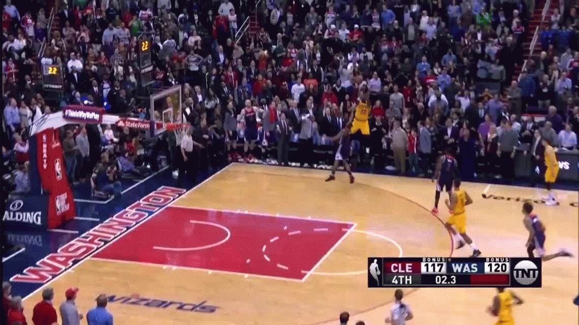 VIDEO: mirá lo que hizo Lebron James para forzar la prórroga en la NBA