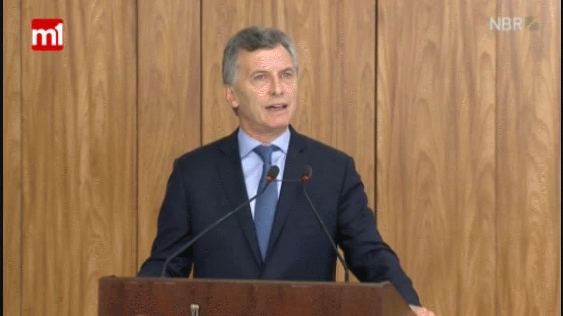 Macri llamó a impulsar al Mercosur ante las incertidumbres del mundo