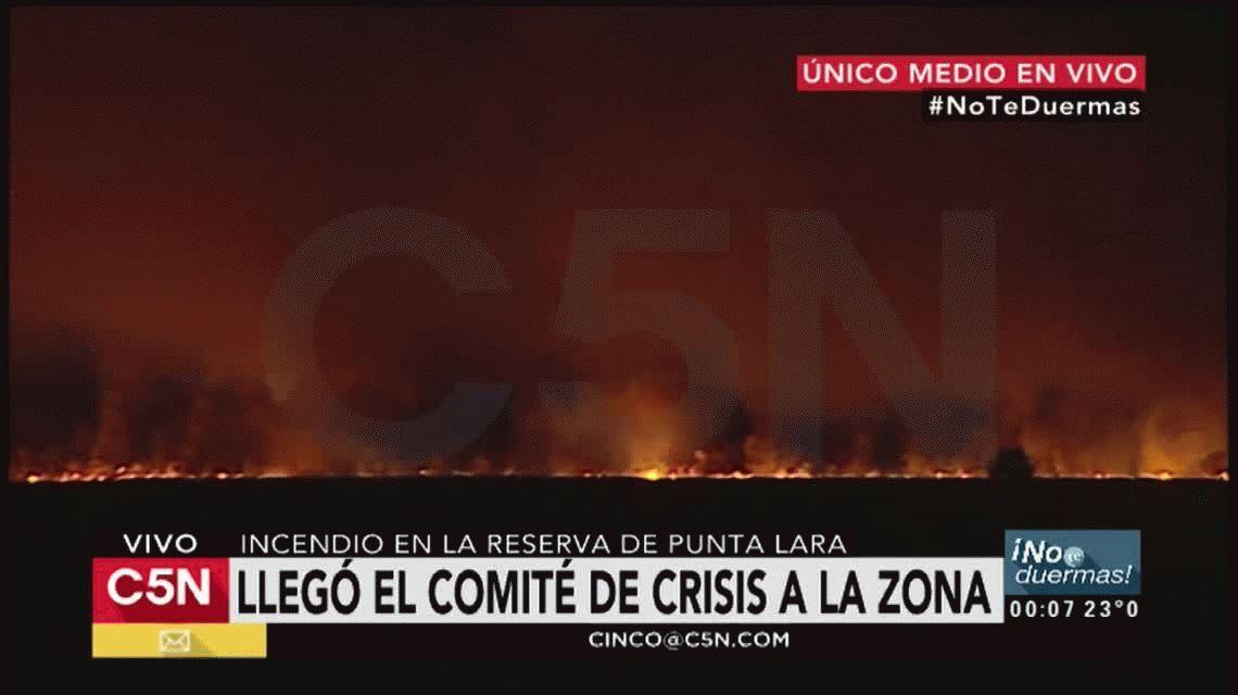 Incendio en Punta Lara