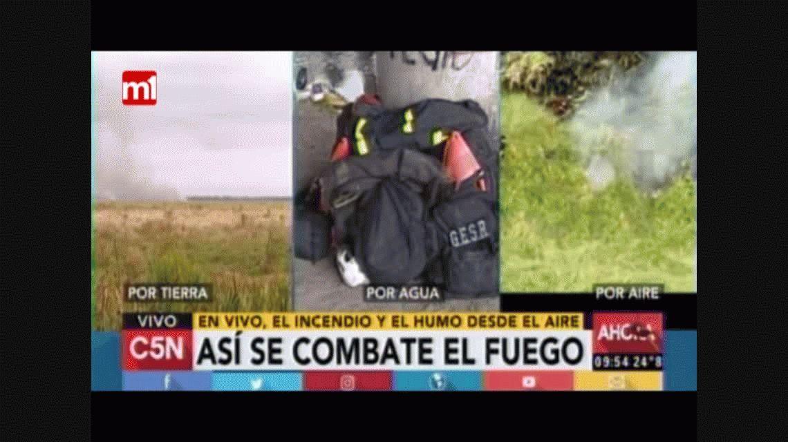 Chicotazo: el método que usaron los bomberos para controlar el incendio en Punta Lara