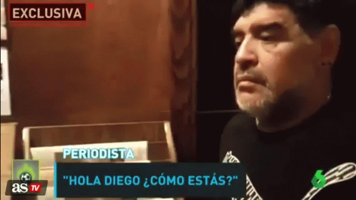 Diego Maradona, a un periodista español: Si te pego, te estropeo