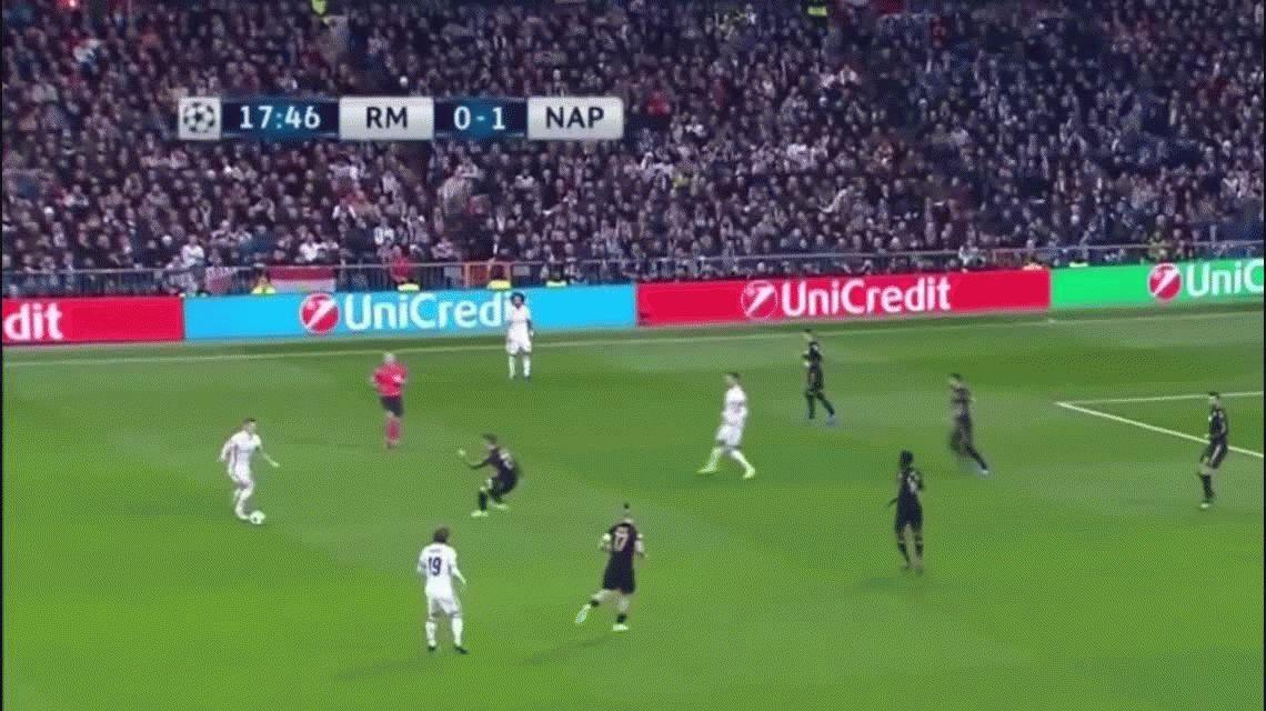 Real Madrid fue demasiado para Nápoli y lo venció en el Santiago Bernabéu