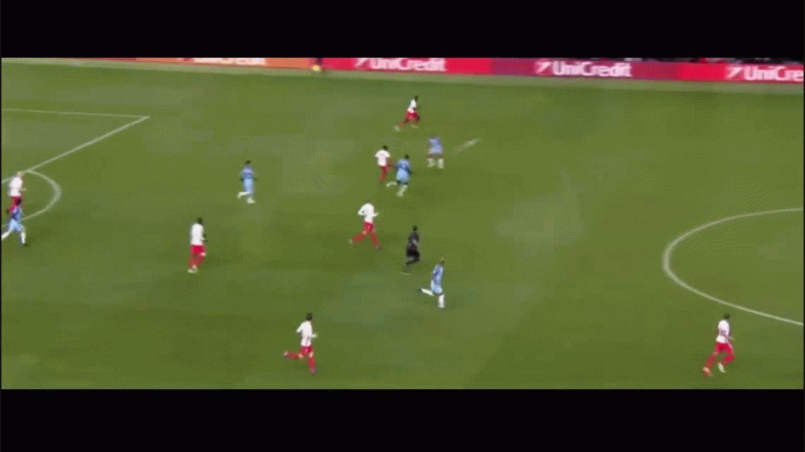 El golazo de Falcao que hizo sufrir a Willy Caballero y al Manchester City