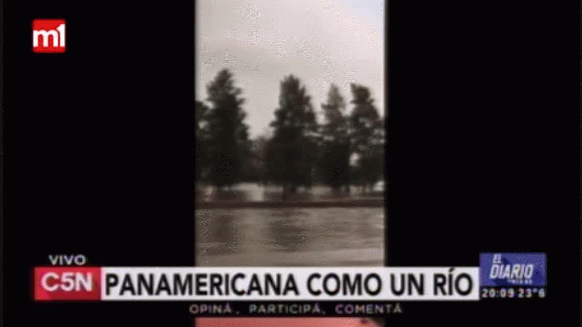 VIDEO: Caos en la Panamericana por inundación