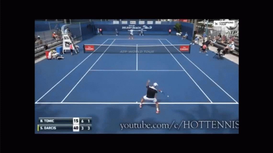 Papelón mundial en el tenis: Bernard Tomic se dejó perder en Delray Beach