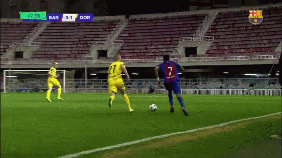 ¿El nuevo Messi? Jordi Mboula, juvenil del Barcelona, convirtió un gol para enmarcar