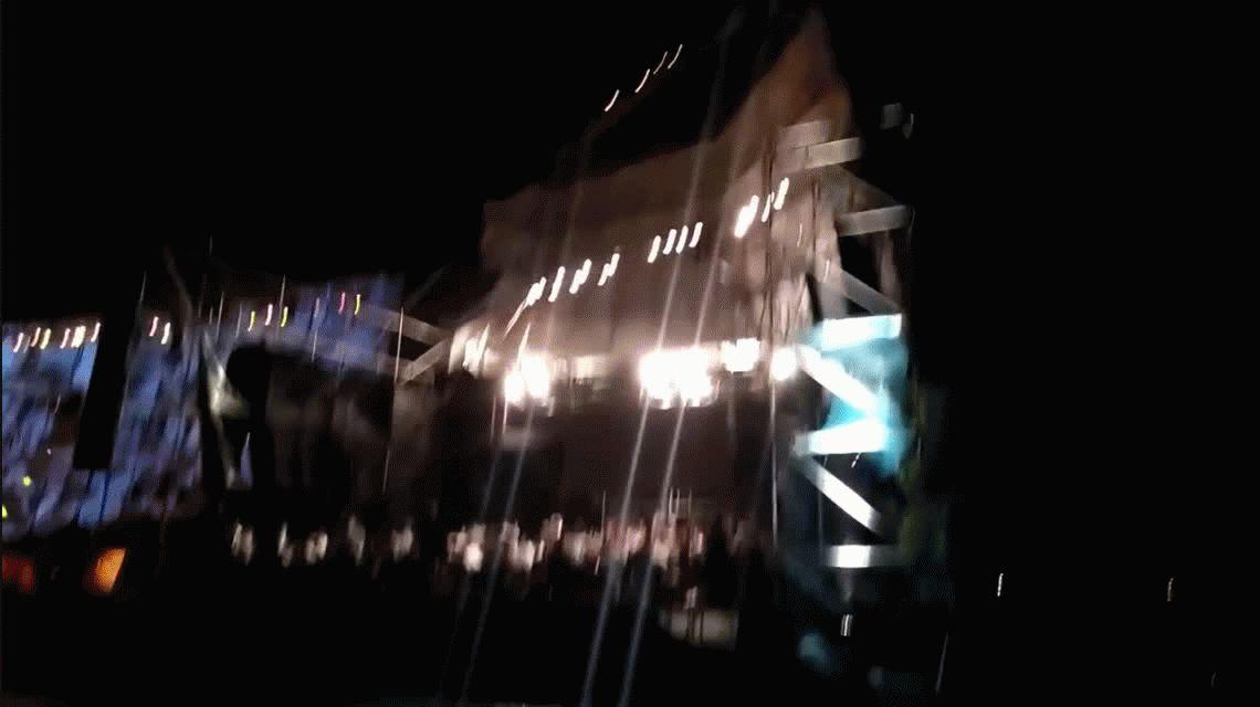 Impactante: se voló el techo de un escenario en Mendoza