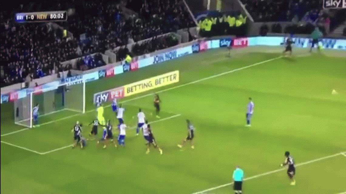 No busquen más: este gol en Inglaterra será el más extraño del año