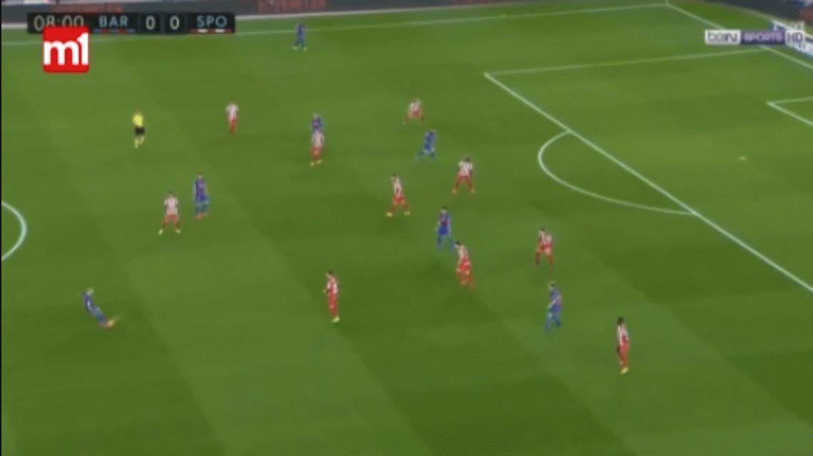 Con un gol de Lionel Messi, Barcelona aplastó al Sporting Gijón en el Camp Nou