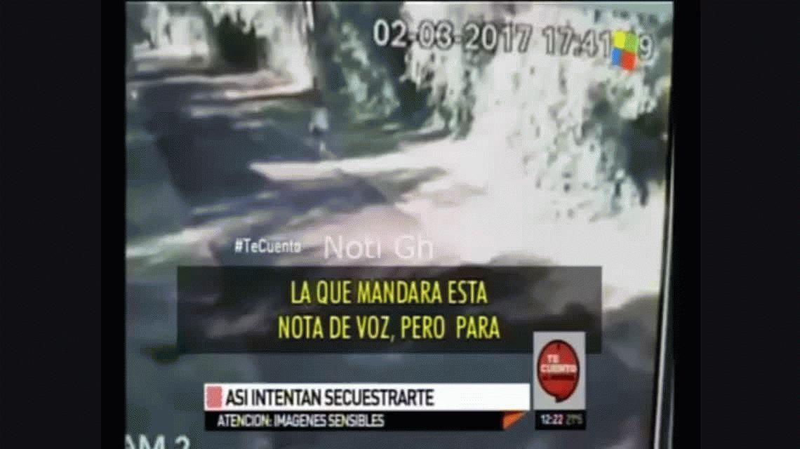 VIDEO: así intentaron secuestrar a una joven en San Miguel