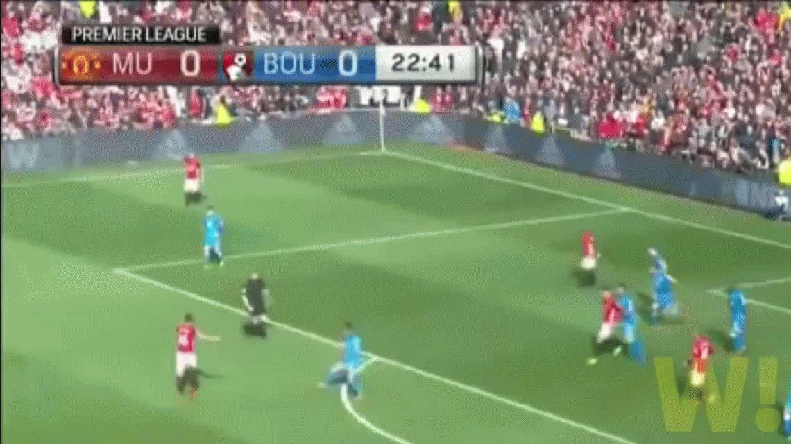 Pese al gol de Marcos Rojo, el United no pudo ante el débil Bournemouth