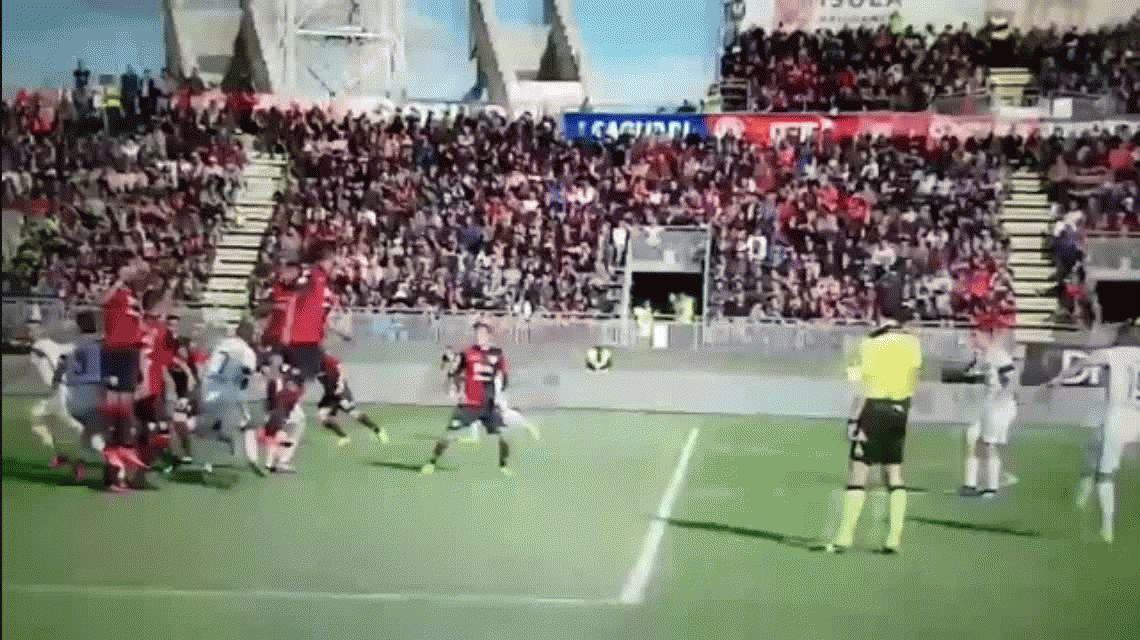Mirá el soberbio tiro libre de Ever Banega en el triunfo del Inter
