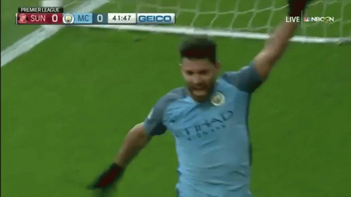 Con un gol del Kun Agüero, Manchester City sigue soñando en la Premier League