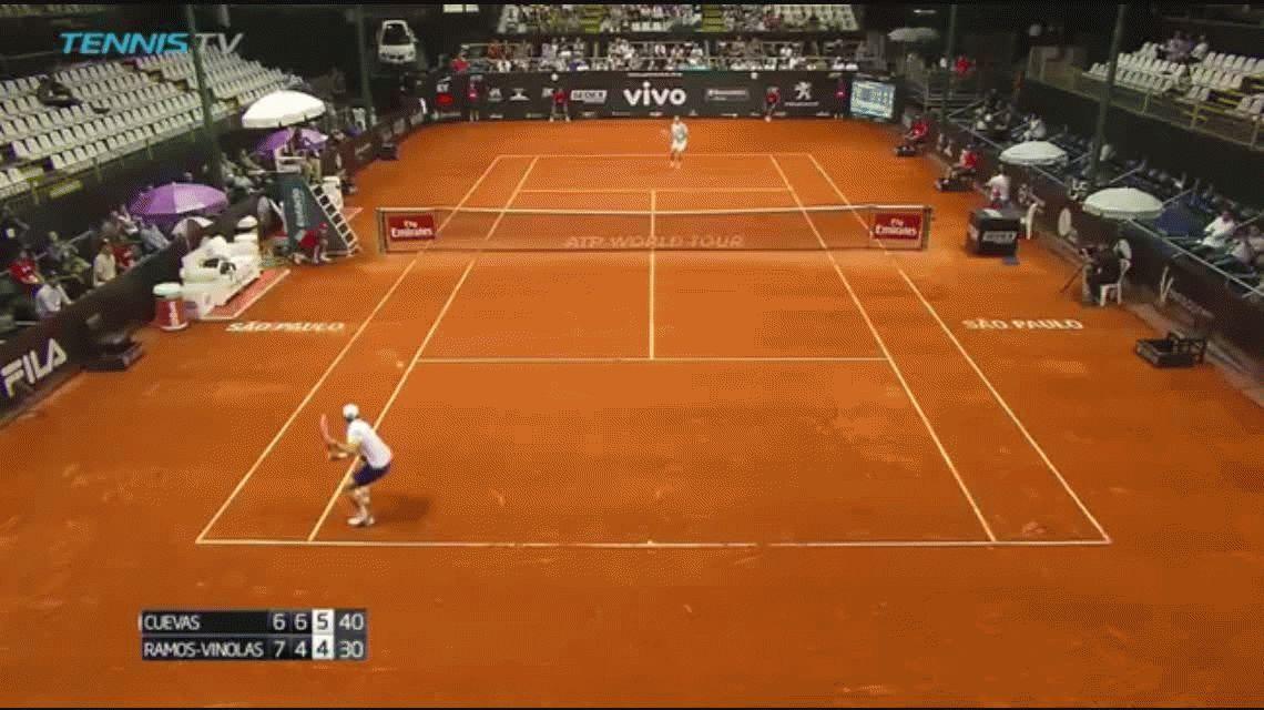 Irrespetuoso: Pablo Cuevas se consagró campeón haciéndose el canchero