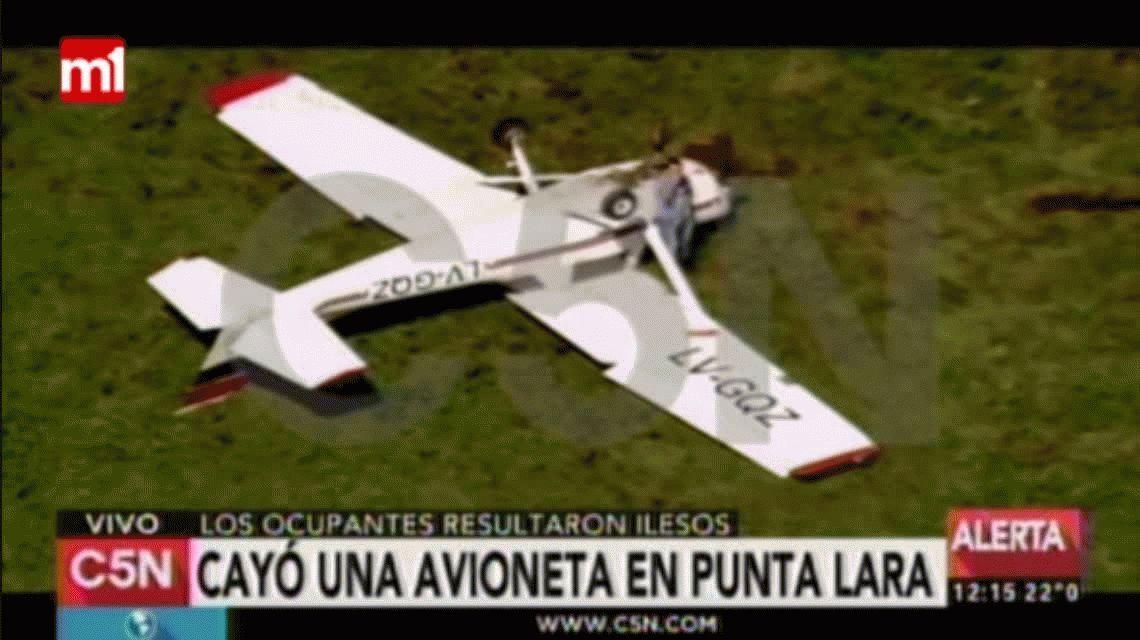 Milagro en Punta Lara: cayó una avioneta y los ocupantes sobrevivieron