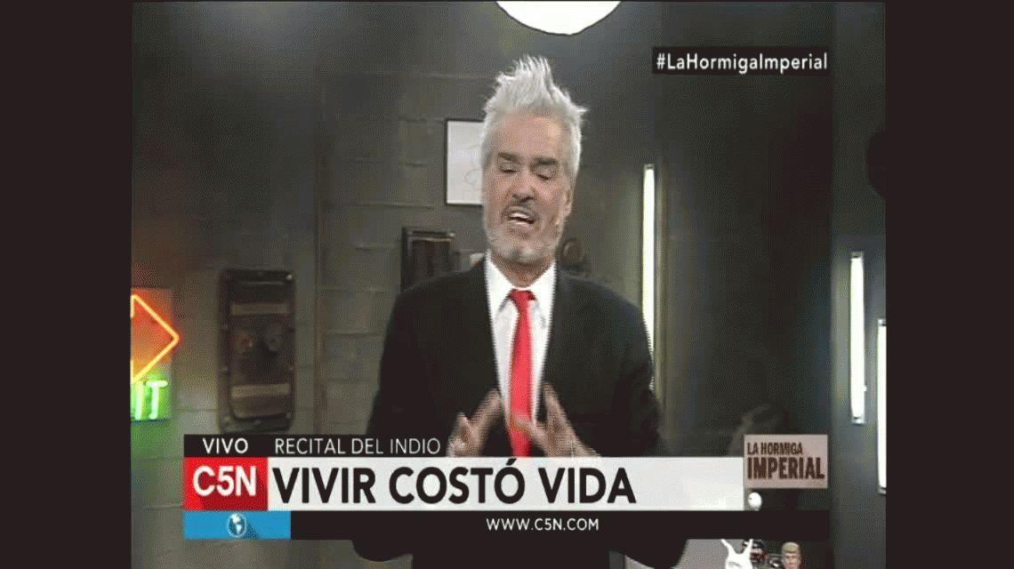 VIDEOS: Roberto Pettinato, duro con el Indio Solari: Si Luca te viera, qué triste estaría