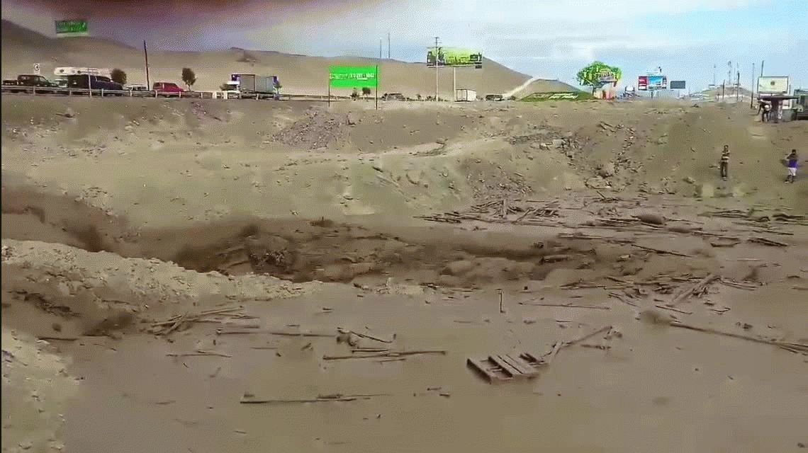 De milagro: una mujer se salva de morir en el alud de Perú