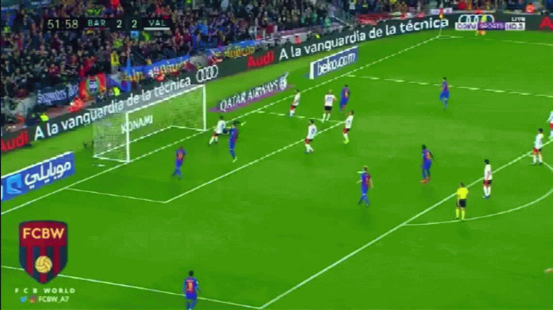 Messi brilló y Barcelona se quedó con un duro encuentro ante el Valencia
