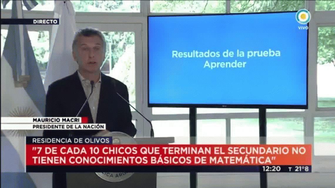 La desafortunada frase de Macri: habló de caer en la escuela pública