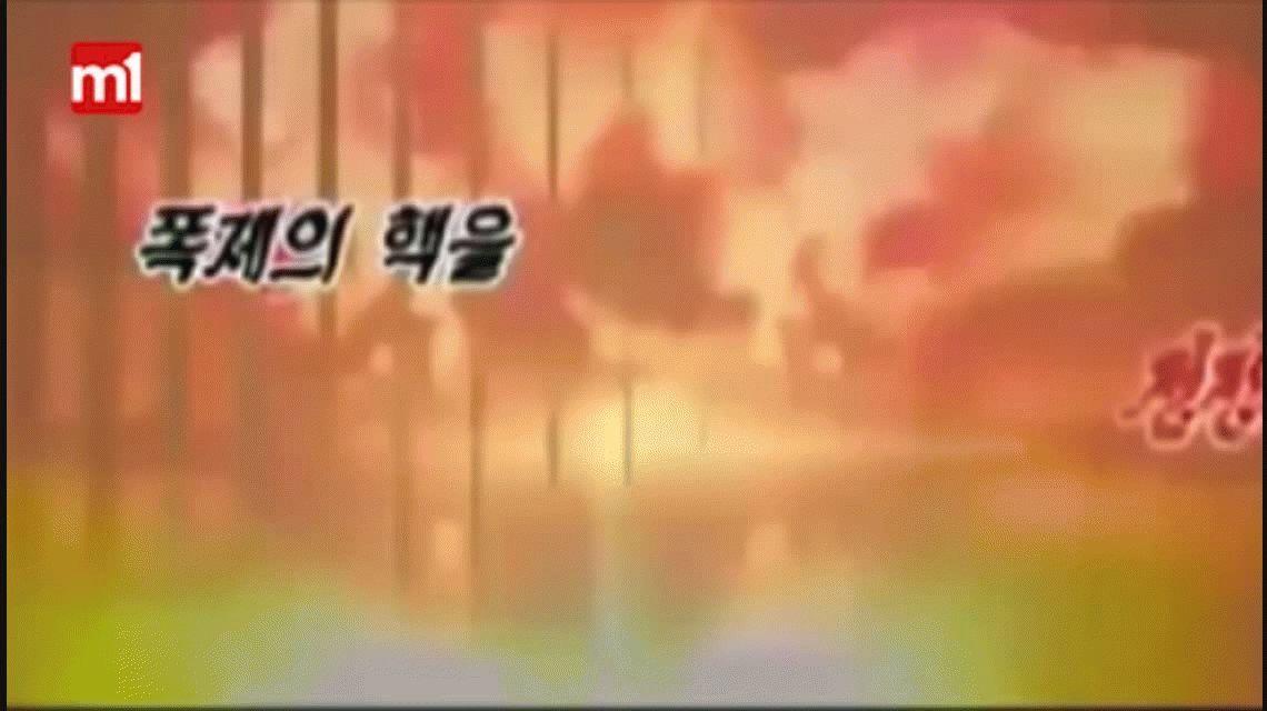 Kim Jong-Un lanzó un video donde destruye un portaaviones de EE.UU.