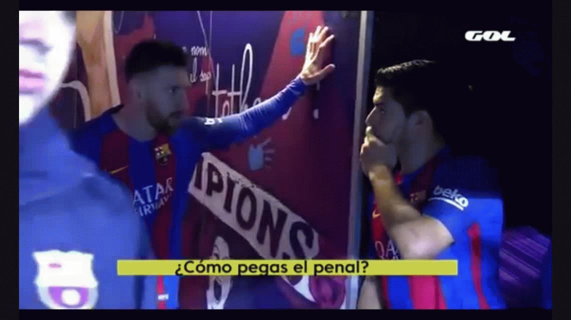 La pregunta de Suárez a Messi: Cómo le pegás... tengo que aprender