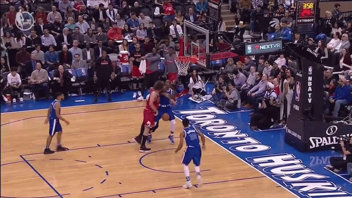 Batalla campal entre Chicago Bulls y Toronto Raptors termina con dos expulsados