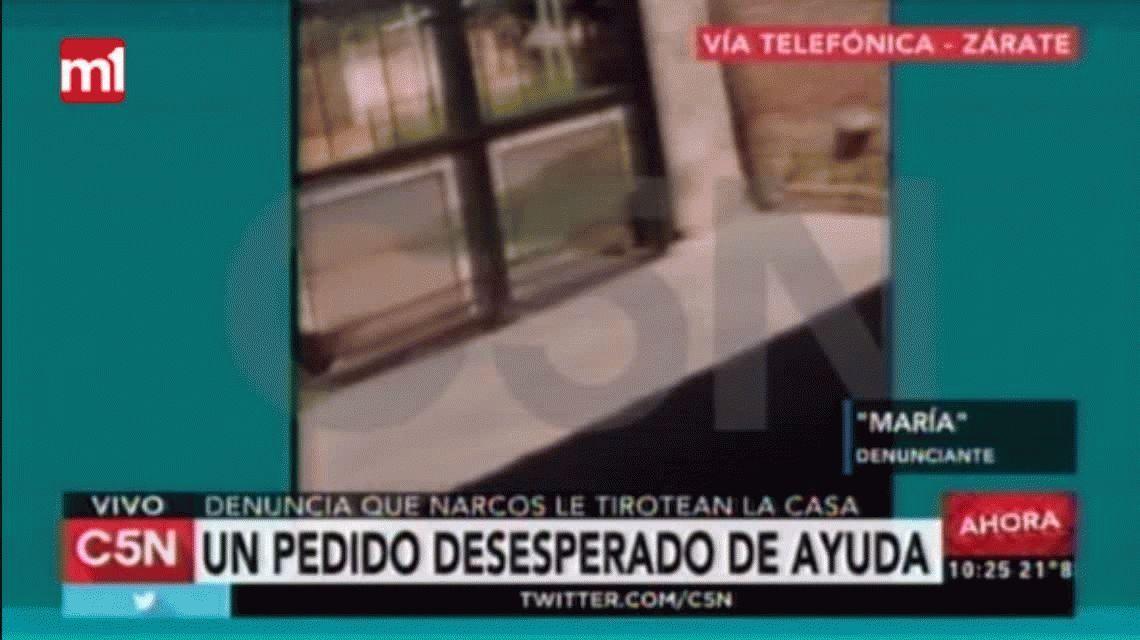 Zárate: una mujer rescató a su hermano de la droga y narcos le balean la casa