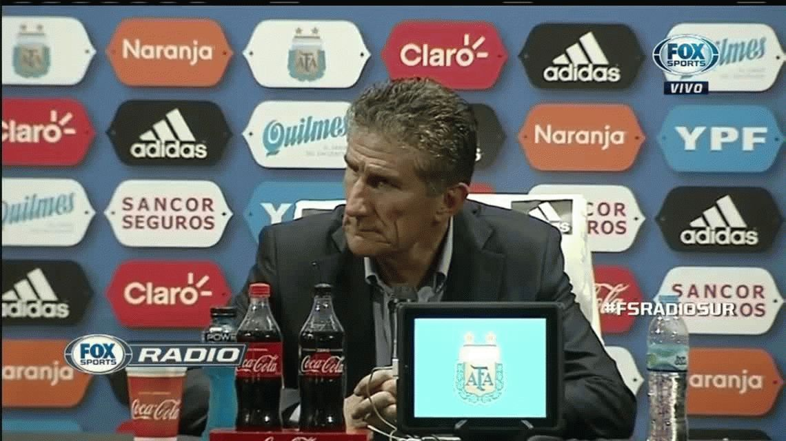 Edgardo Bauza en conferencia de prensa (Fox Sports)