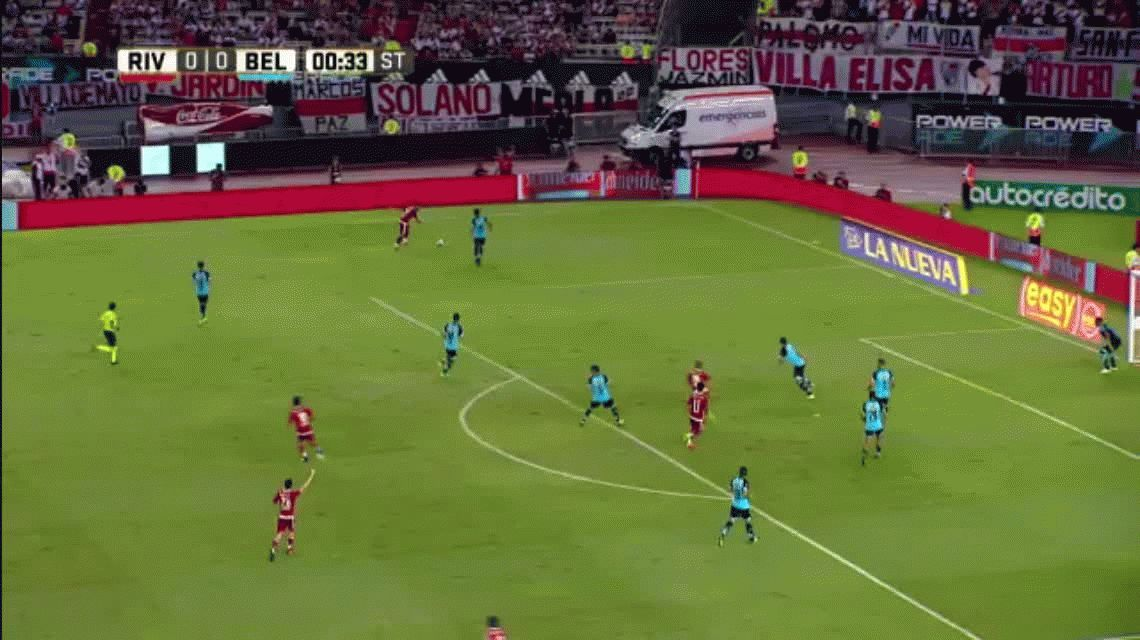 River sufrió pero derrotó a Belgrano como local y sigue soñando