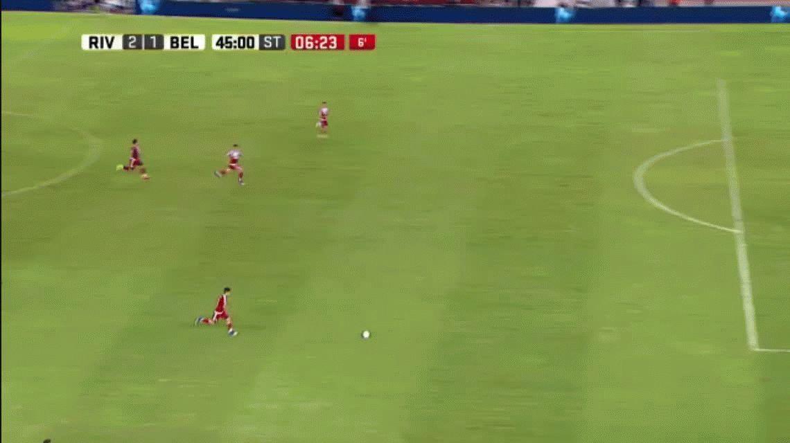 ¿La jugada más insólita del año? River se perdió un gol increíble ante Belgrano