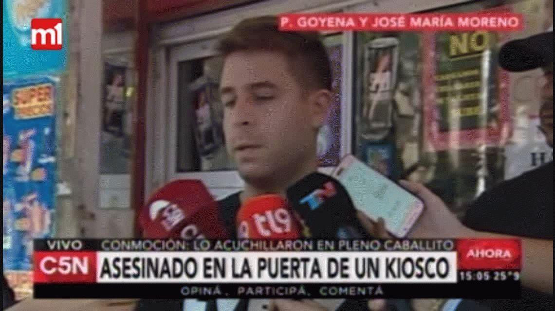 Caballito: el dueño del kiosco aseguró que el crimen duró 20 segundos