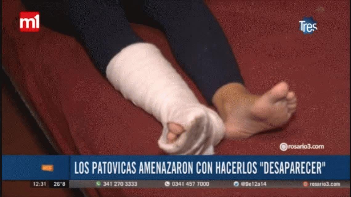 Rosario: denuncian que patovicas les dieron una brutal golpiza