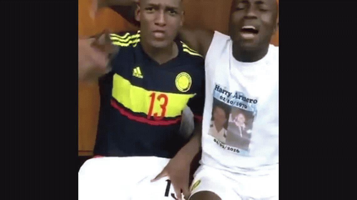 El descontrolado baile de los jugadores de Colombia en el vestuario