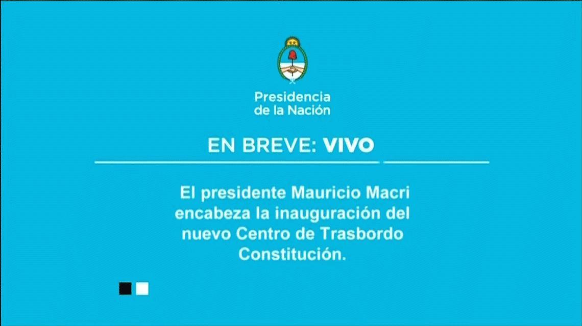 Mauricio Macri inauguró un centro de transbordo en Constitución