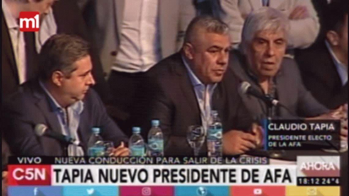 Chiqui Tapia, tras ser elegido como presidente: Vamos a refundar la AFA