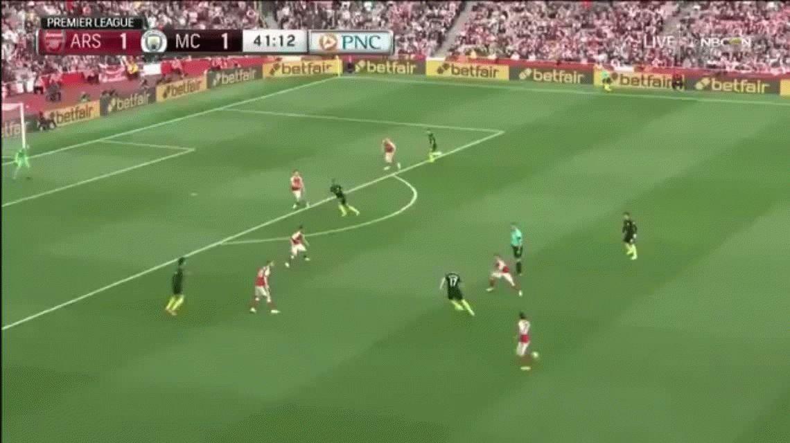 Allá sí los hace: el Kun Agüero convirtió en el empate del Manchester City