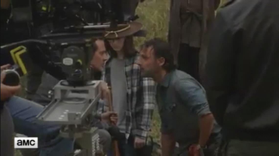 Mirá cómo se hizo la escena del tigre en The Walking Dead