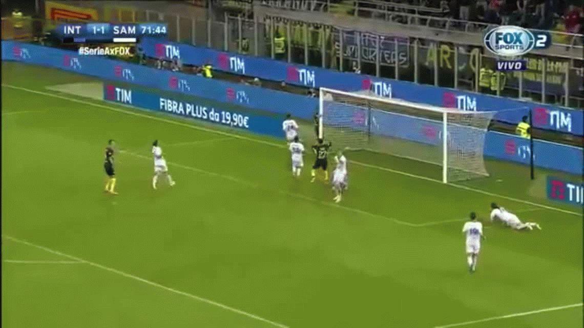 El increíble gol que falló Mauro Icardi con el Inter ante Sampdoria