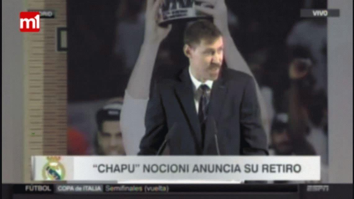 Nocioni fue homenajeado por el Real Madrid y explicó los motivos de su retiro