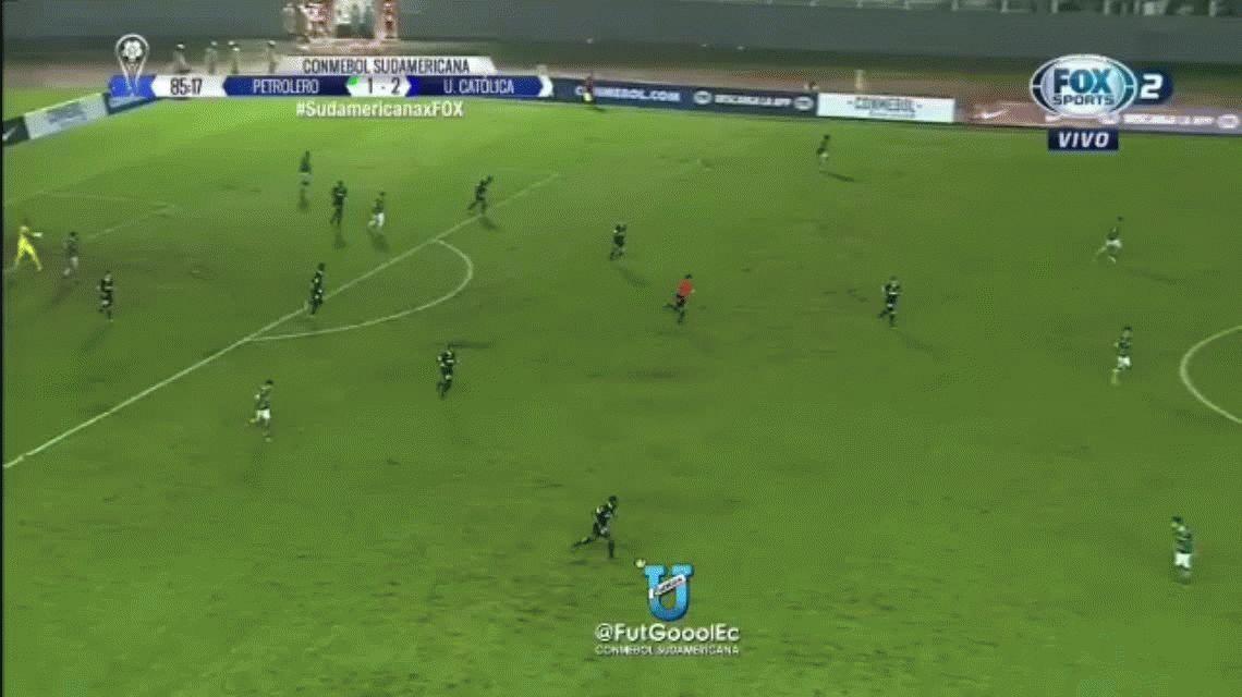 Corre, Forest: mirá el maratónico gol de Jordy Caicedo para Universidad Católica