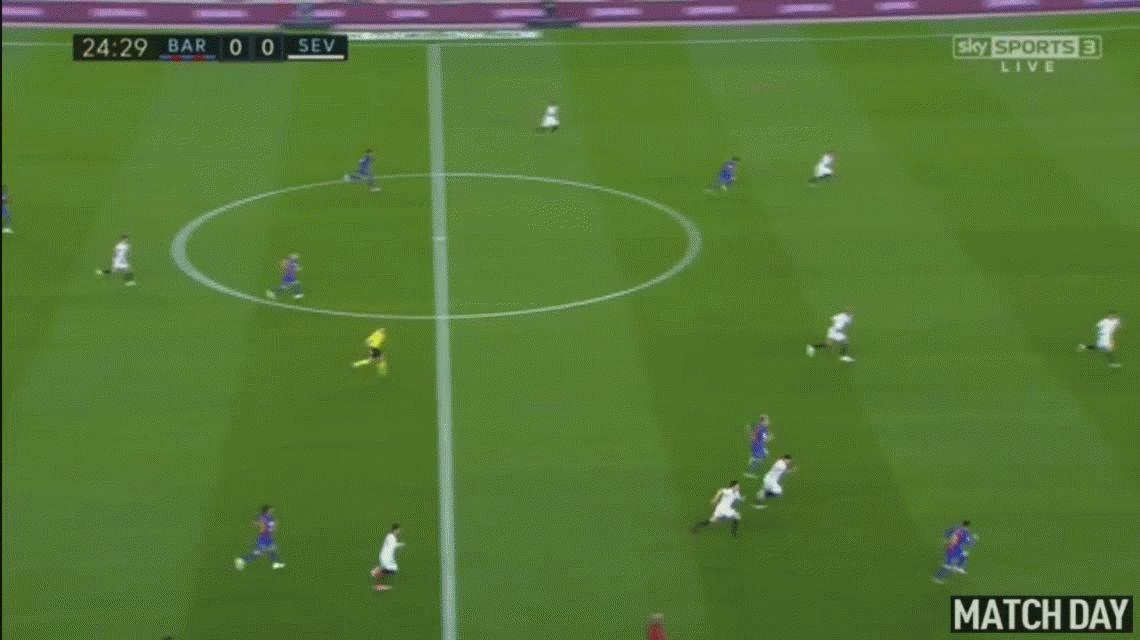 Con golazos de Messi y Suárez, Barcelona goleó al Sevilla de Sampaoli