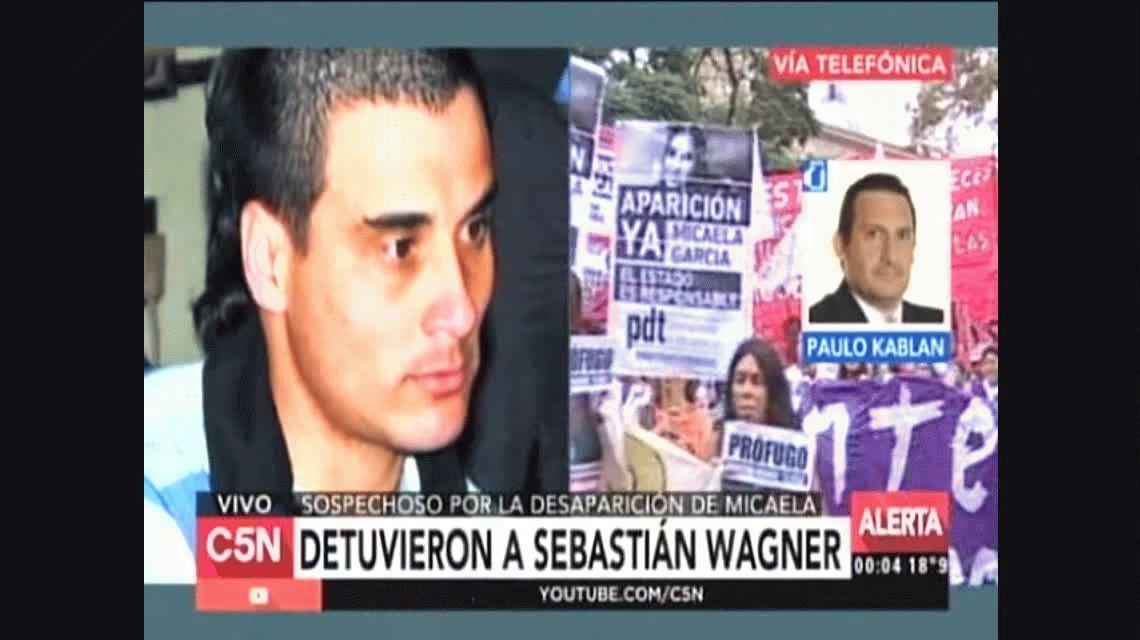 Detuvieron a Sebastián Wagner, el principal sospechoso por la desaparición de Micaela García