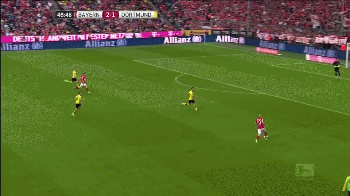 Marca registrada: la perlita de Robben en la goleada del Bayern ante Dortmund