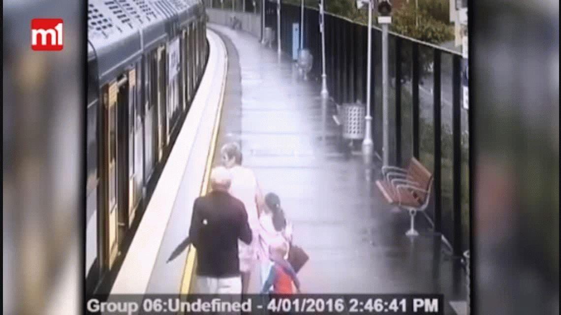 Terror: un chico cayó entre la formación y el andén en una estación de tren