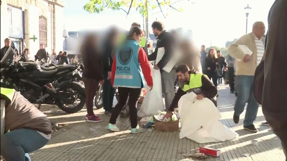 La Policía de la Ciudad desalojó a puesteros en Retiro
