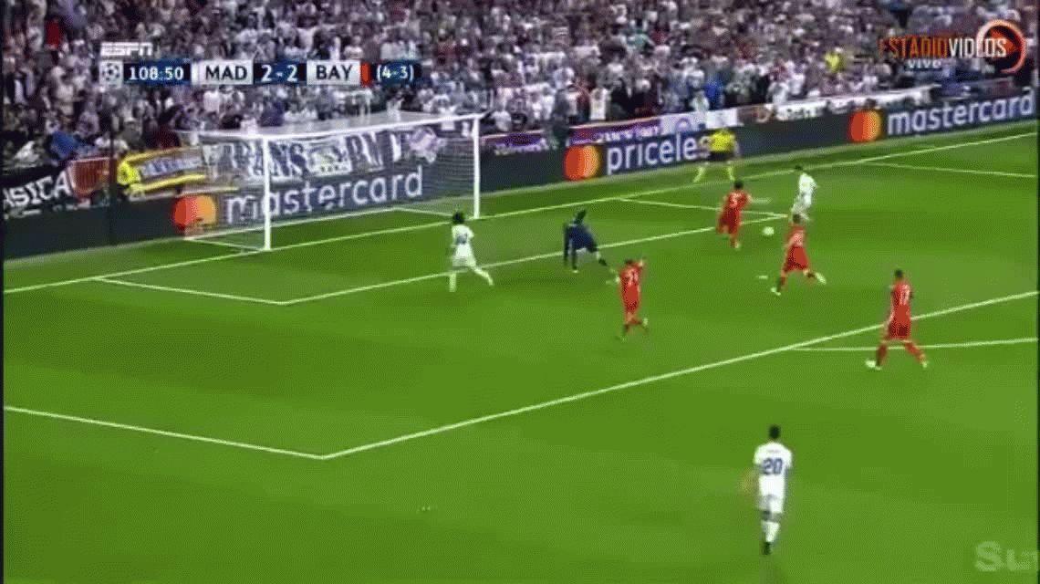 La increíble jugada de Marcelo que terminó en gol de CR7 ante Bayern Munich