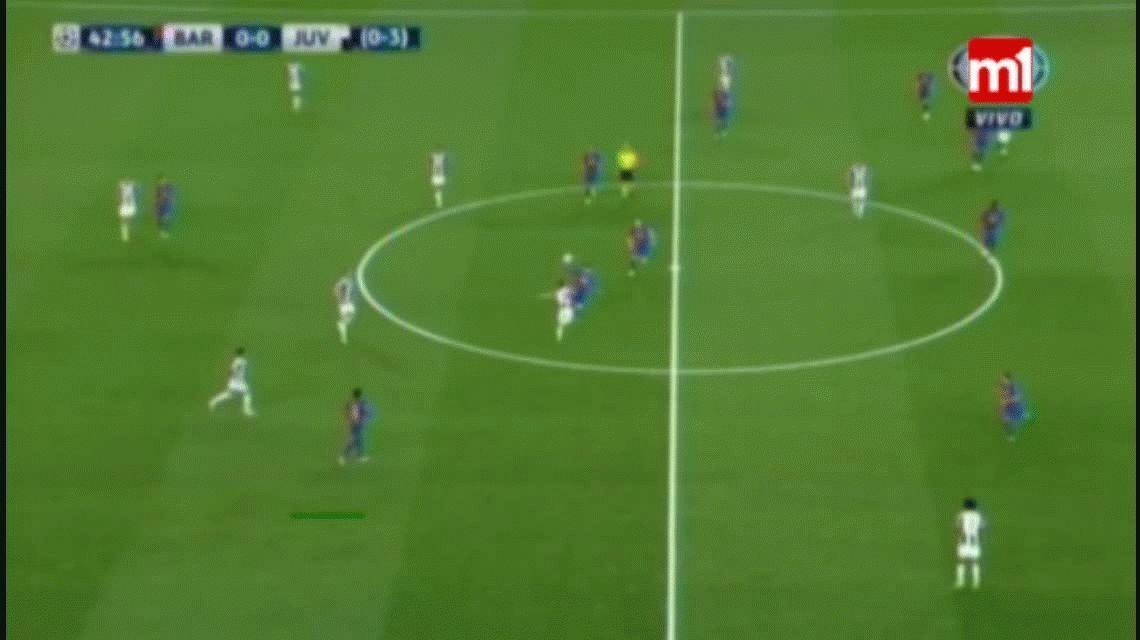 La terrible caída de Lionel Messi ante Juventus