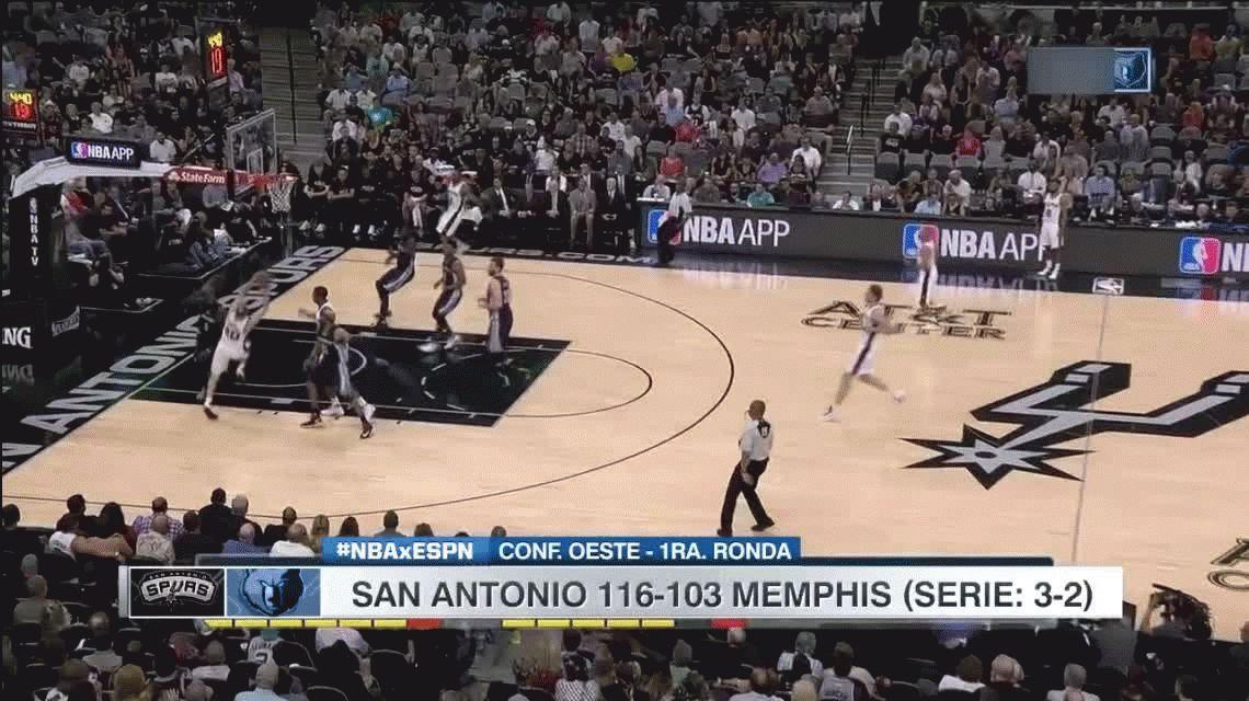 Ginóbili rompió su sequía en la importante victoria de los Spurs ante los Grizzlies