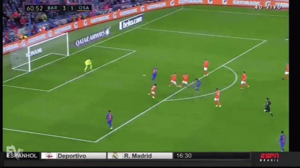 Sigue intratable: Messi marcó un doblete ante Osasuna y llegó a los 502 goles