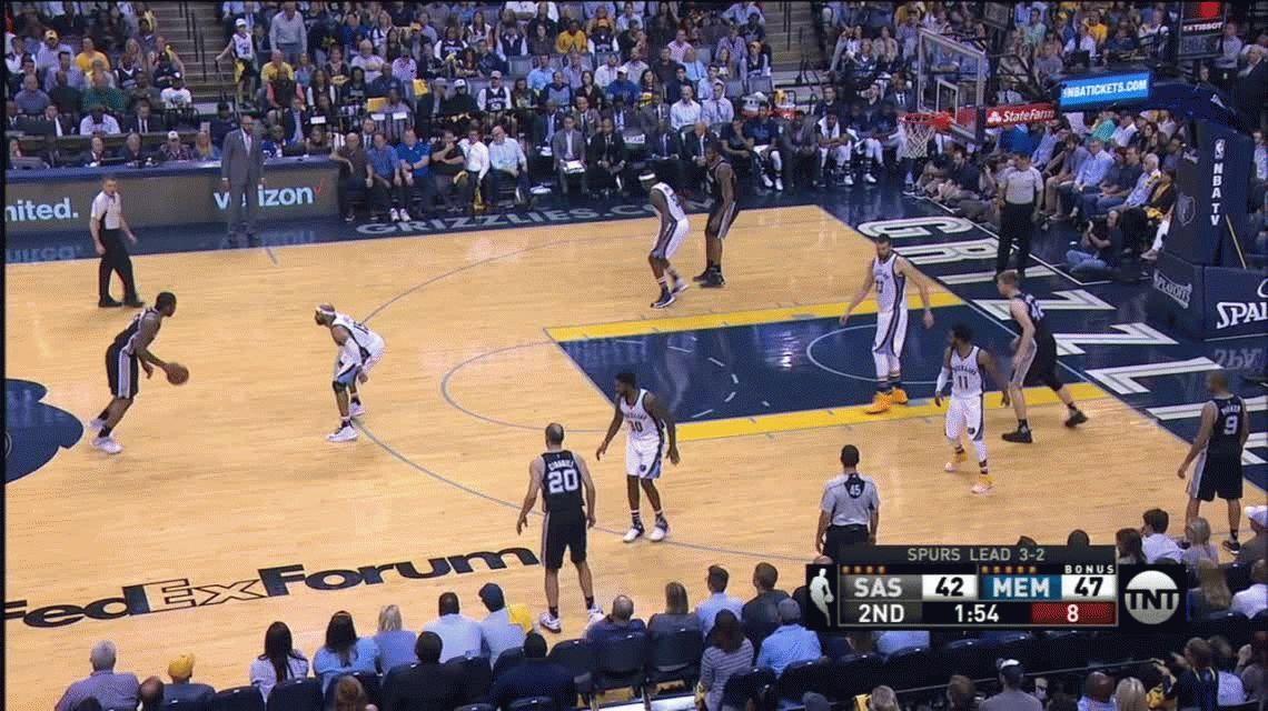 Con Manu Ginóbili, San Antonio Spurs le ganó a Memphis Grizzlies y avanza en los playoffs
